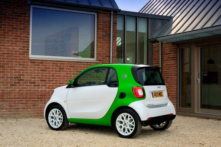 Smart Fortwo electric, rear