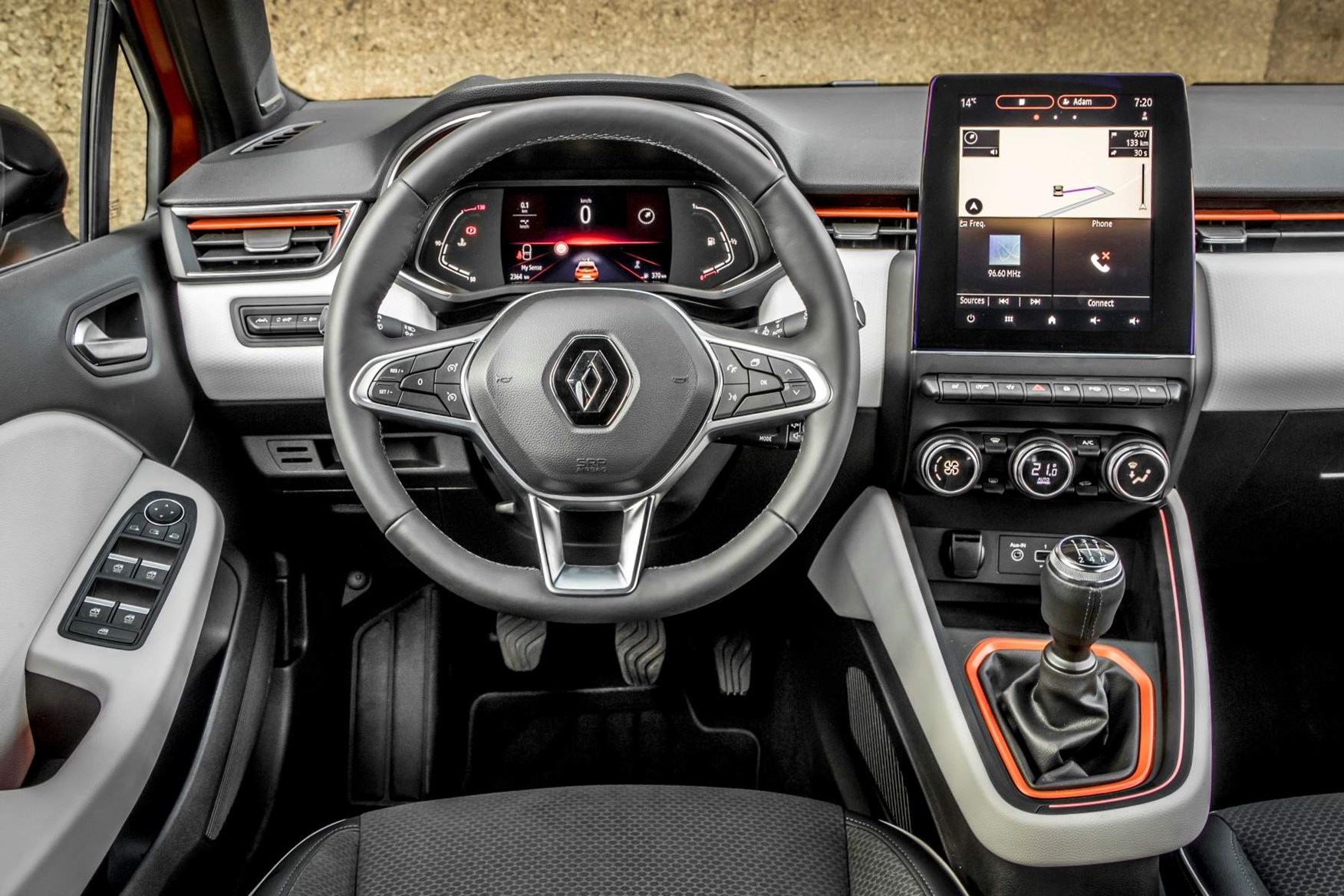 2019 left-hand drive Renault Clio dashboard