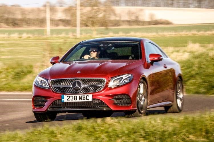 Mercedes-Benz E-Class Coupe front three-quarters