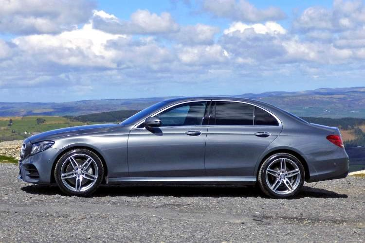 Mercedes-Benz E-Class Saloon side elevation