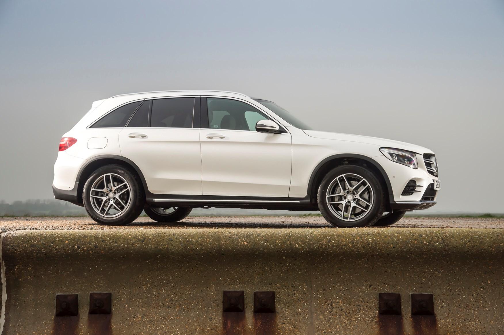 White 2016 Mercedes-Benz GLC SUV side elevation