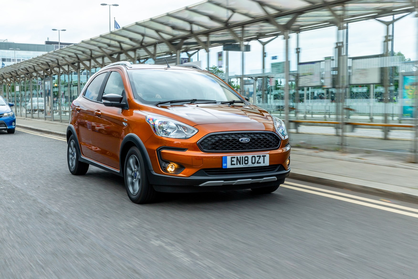 Brown 2018 Ford Ka+ Active front three-quarter