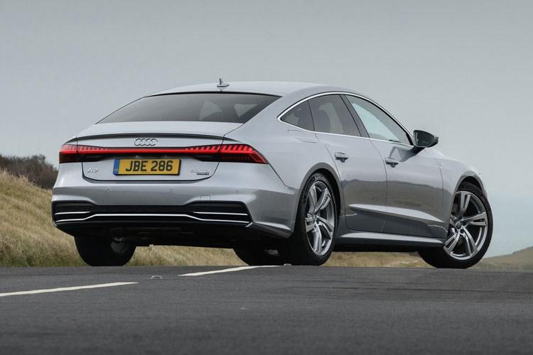 Audi A7 - rear view, silver