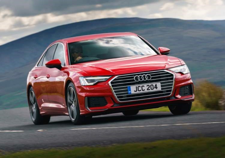 Red 2019 Audi A6 Saloon front three-quarter