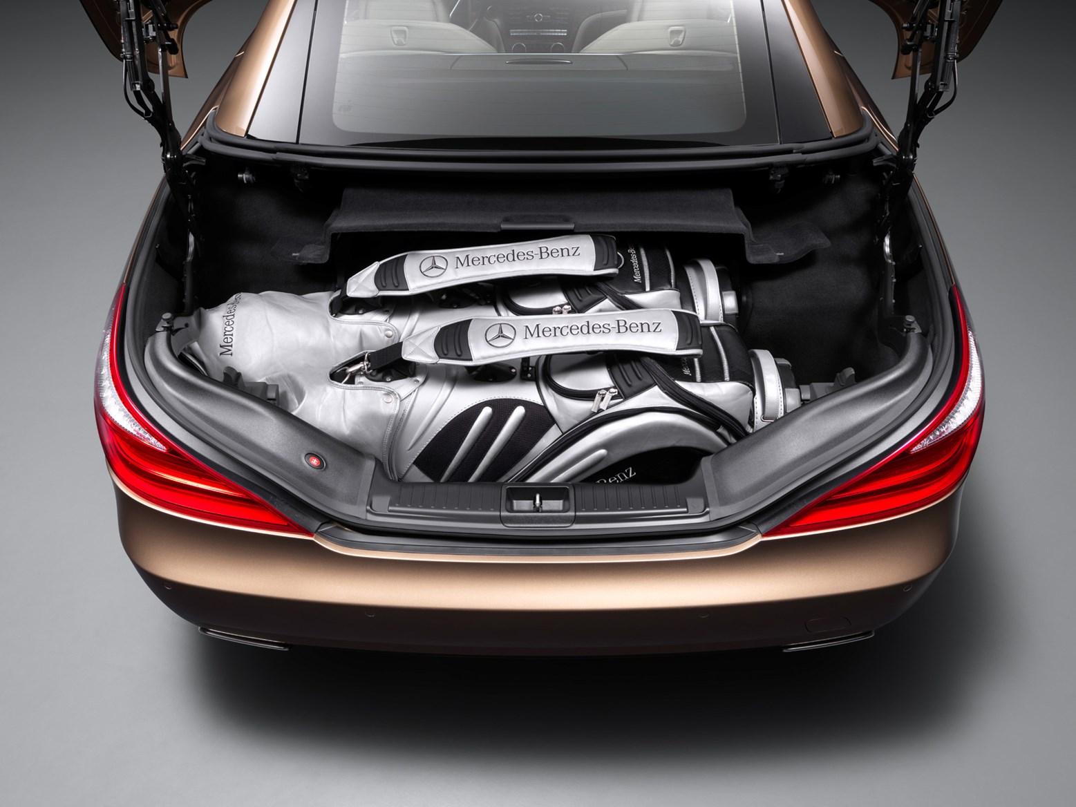 Mercedes benz sl class convertible 2012 features for Mercedes benz golf bag