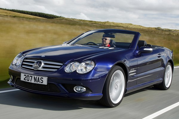 mercedes benz sl class convertible review 2002 2011 parkers. Black Bedroom Furniture Sets. Home Design Ideas