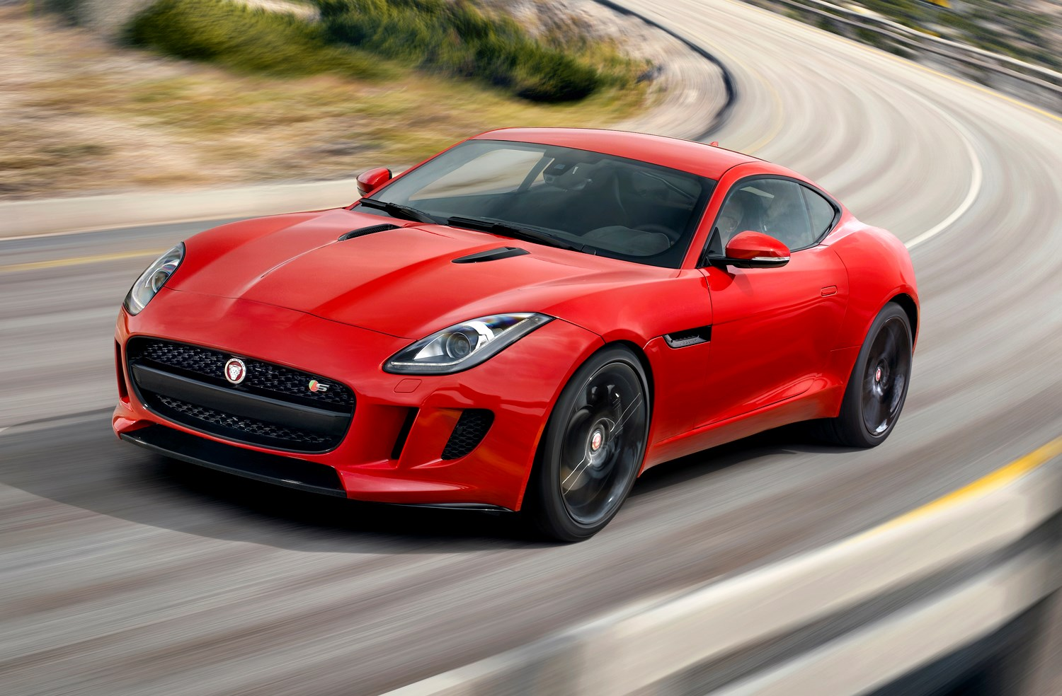 jaguar f type coupe 2014 driving performance parkers. Black Bedroom Furniture Sets. Home Design Ideas