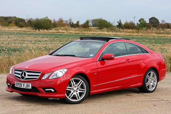 mercedes benz e class coup from 2009 used prices parkers. Black Bedroom Furniture Sets. Home Design Ideas