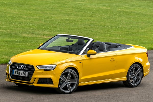 audi a3 cabriolet from 2014 used prices parkers. Black Bedroom Furniture Sets. Home Design Ideas
