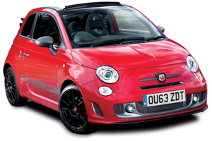 Abarth 595 Convertible cut-out