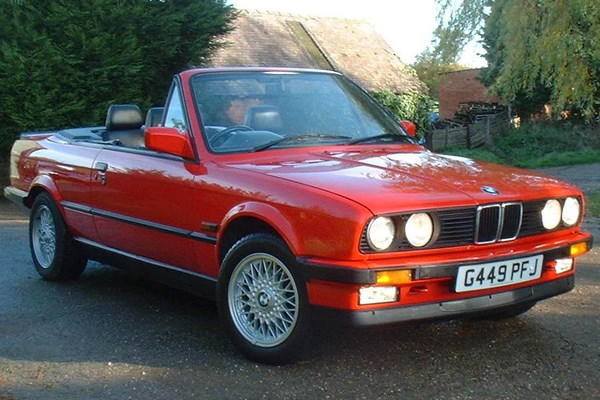 bmw 3 series convertible from 1986 used prices parkers. Black Bedroom Furniture Sets. Home Design Ideas