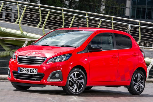peugeot 108 hatchback from 2014 used prices parkers. Black Bedroom Furniture Sets. Home Design Ideas