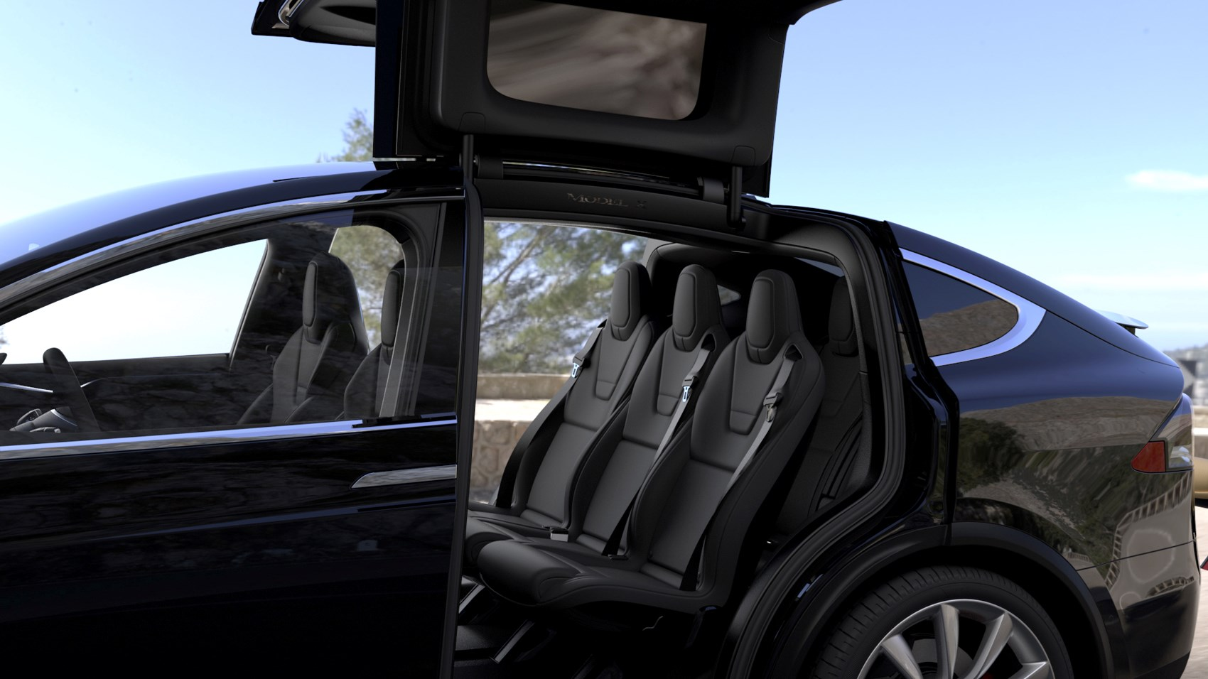 Tesla Model X Suv 2016 Driving Performance Parkers