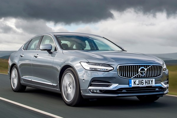 volvo s90 saloon from 2016 used prices parkers. Black Bedroom Furniture Sets. Home Design Ideas