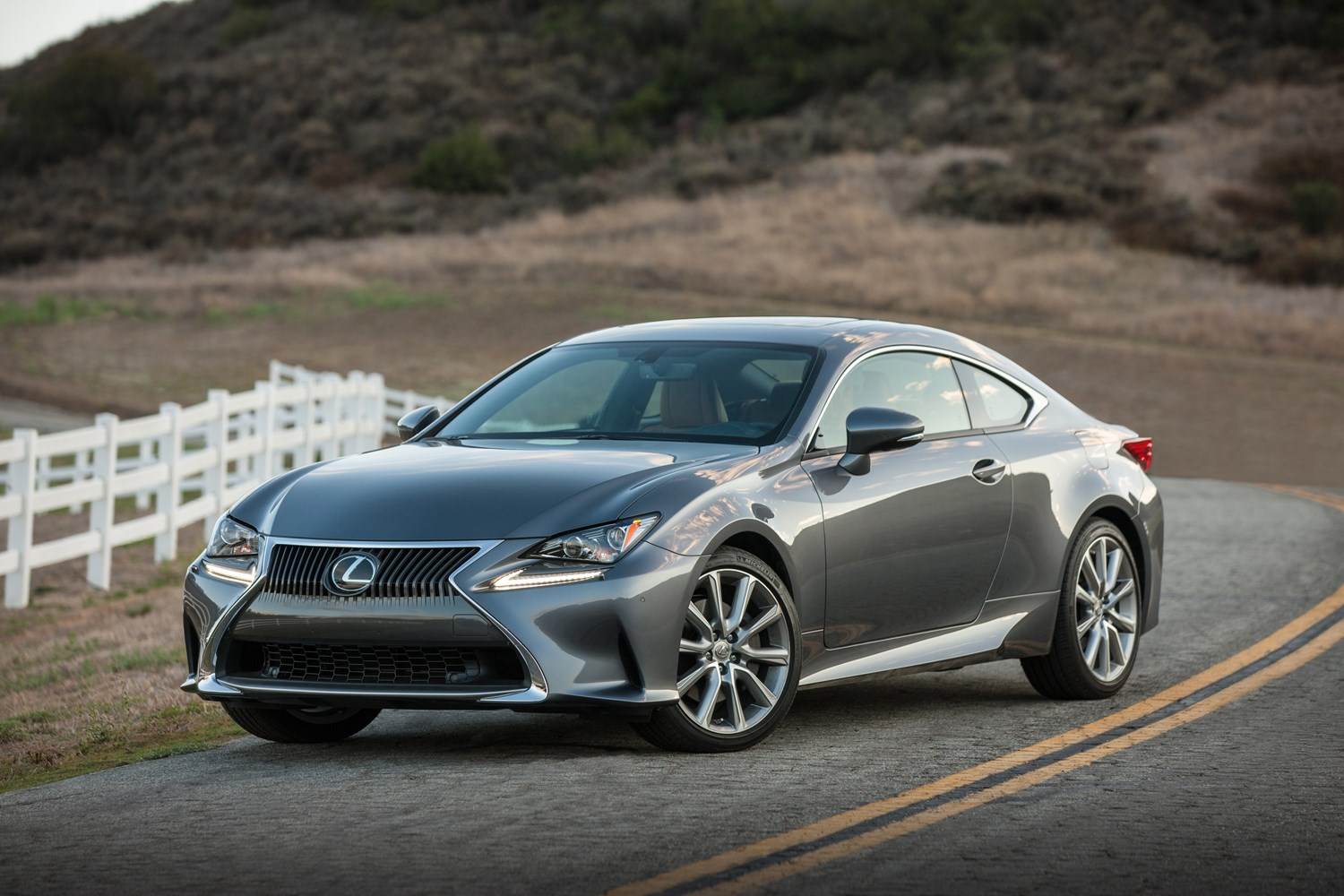 Lexus Rc Front Side Grey Parked