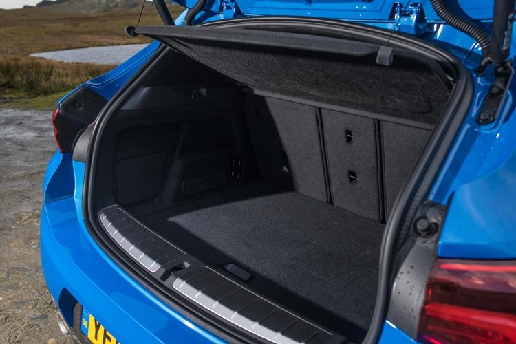 Blue 2017 BMW X2 SUV boot space