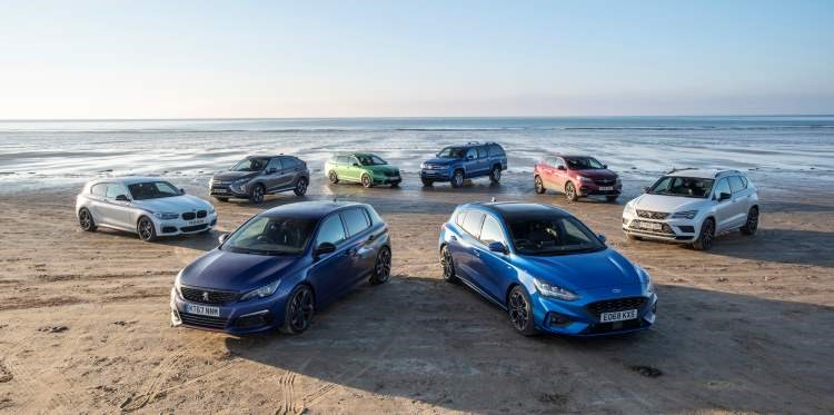 A selection of news cars, ranging in tax – all based on CO2