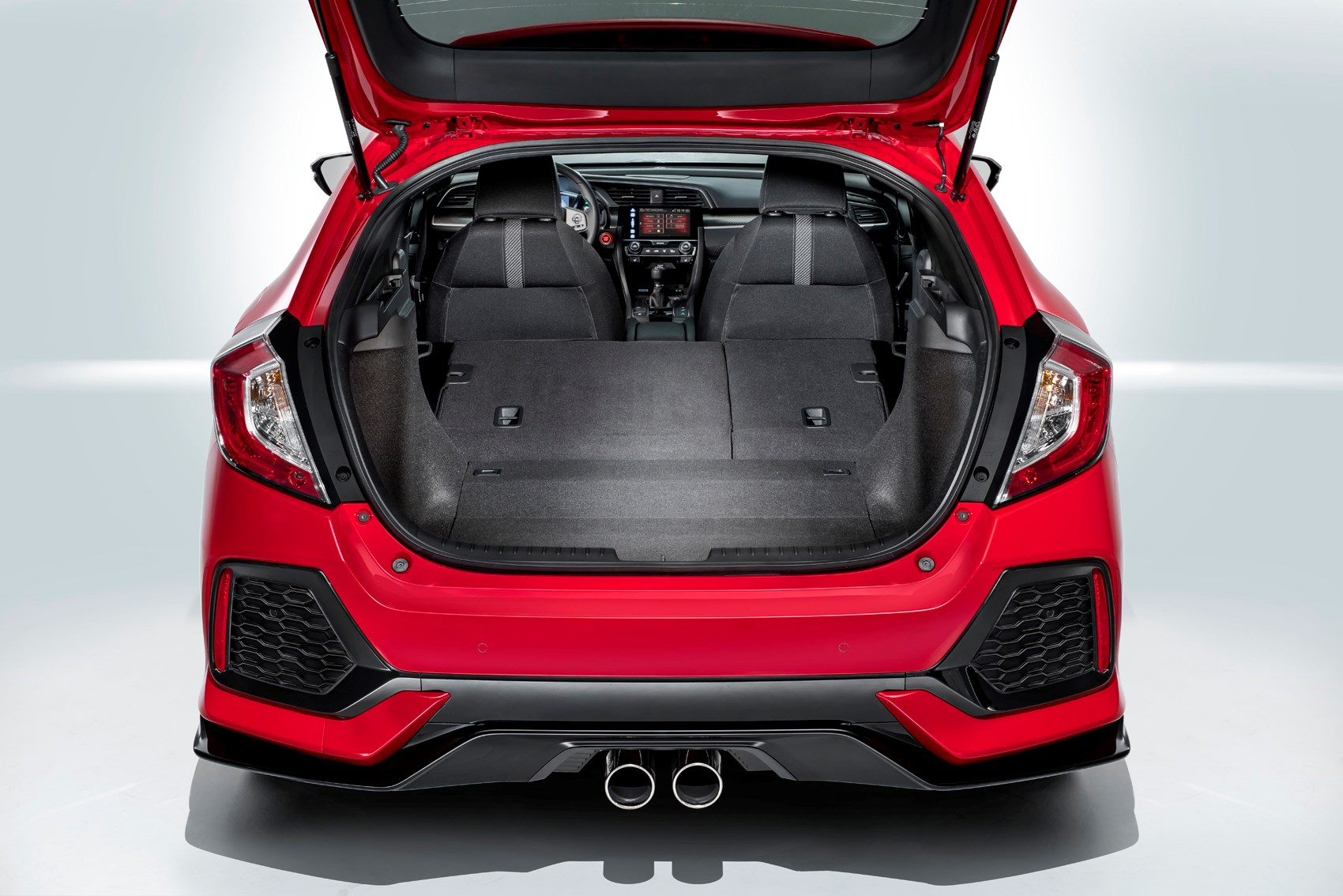 Honda Civic Hatchback 2017 Features Equipment And Accessories Jazz Rs Boot Load Space