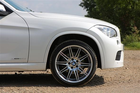The optional 19-inch double-spoke alloy rims are available only with the M Sport trim