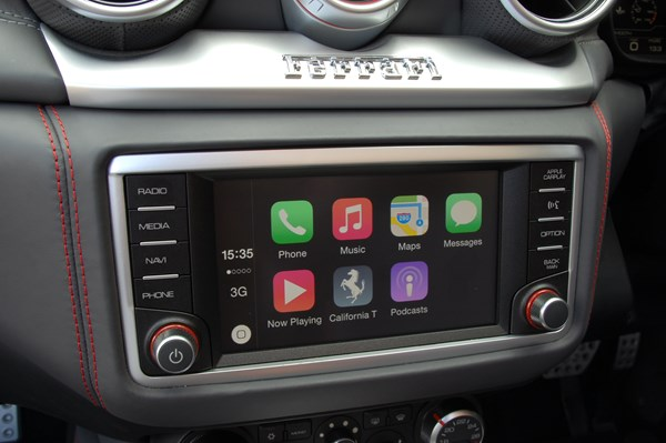 Apple CarPlay made its first appearance in a Ferrari