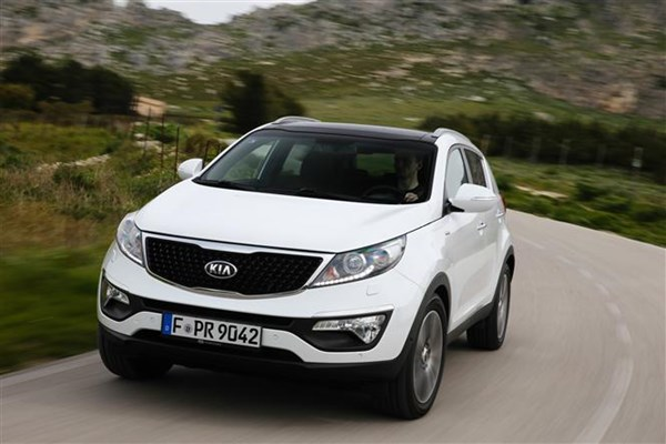 For 2014 the Kia Sportage has a new grille design along with different alloy wheels