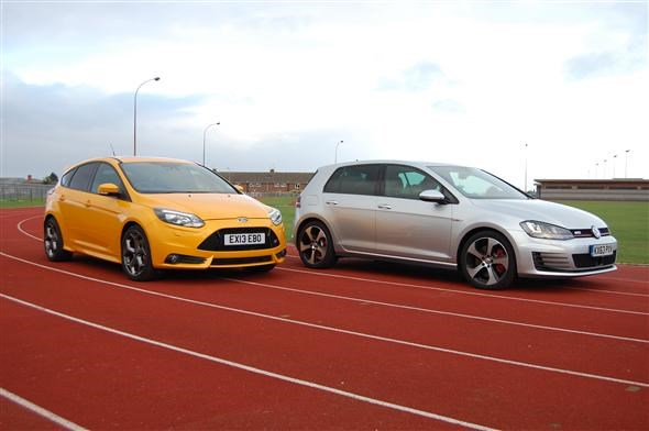 Focus St Vs Gti >> Used Hot Hatches Tested Ford Focus St 3 Vs Volkswagen Golf