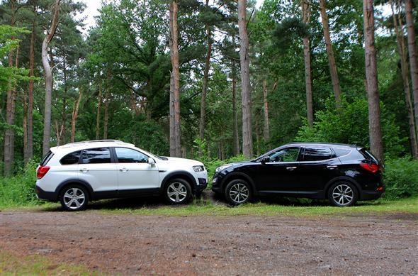 Hyundai Santa Fe vs Chevrolet Captiva comparison test