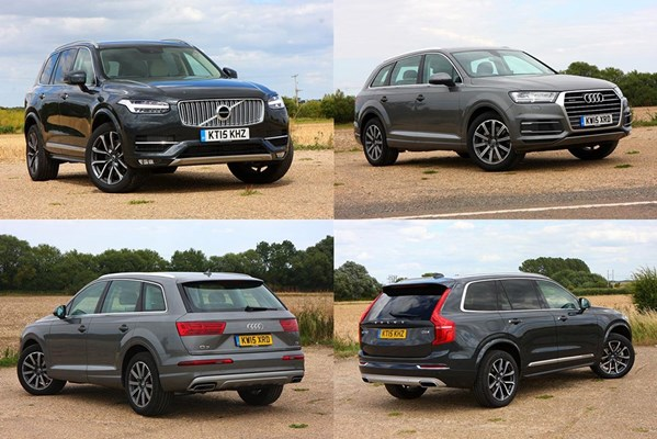 twin test audi q7 vs volvo xc90 parkers. Black Bedroom Furniture Sets. Home Design Ideas