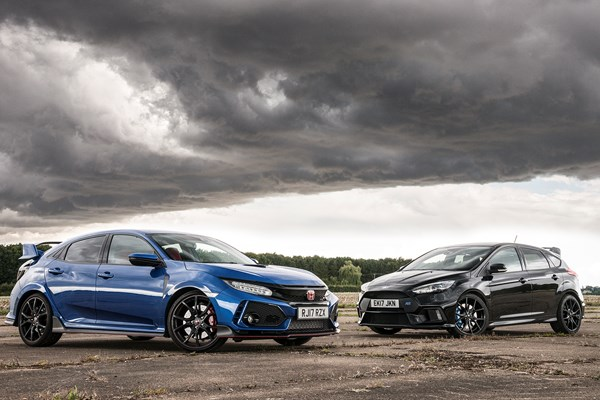 Twin test: Ford Focus RS vs Honda Civic Type R