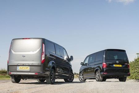 Ford Transit Custom Sport vs VW Transporter Sportline twin-test
