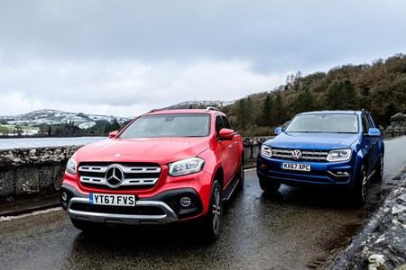 Mercedes X-Class versus VW Amarok twin test review – battle