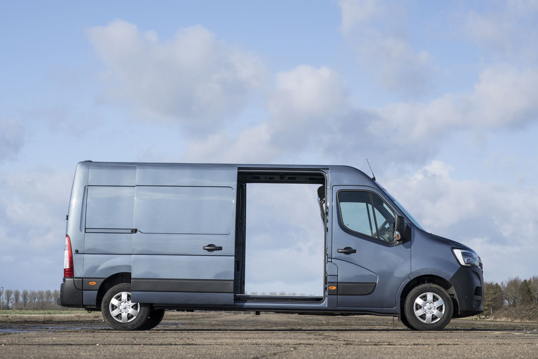 Renault Master review, 2020, side view with side doors open