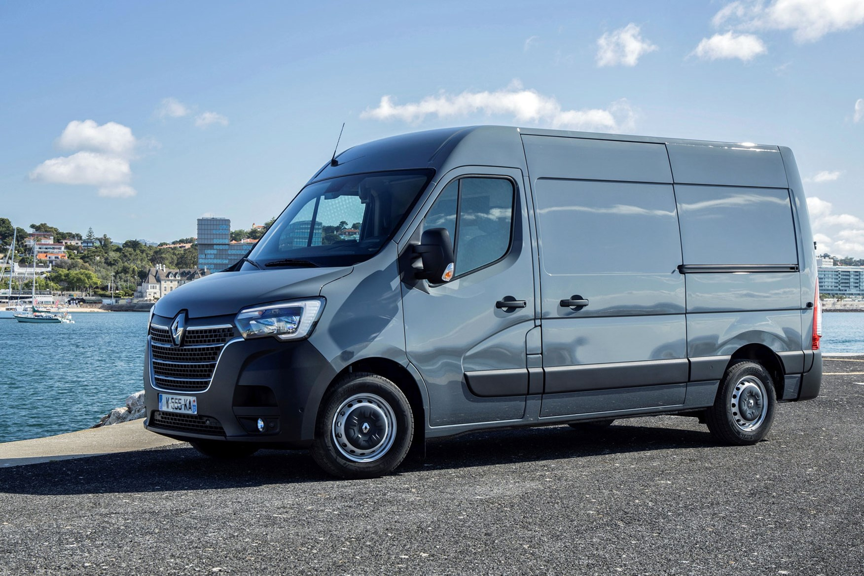 Renault Master review - 2019 facelift, front side view, grey