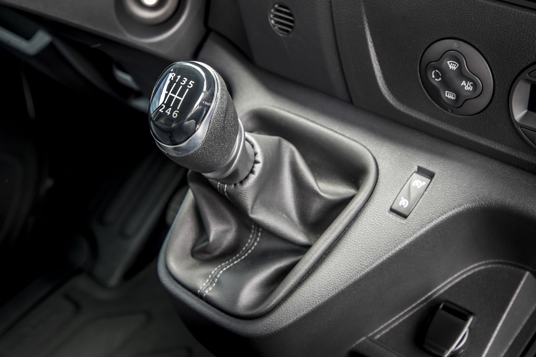 Renault Master review - 2019  facelift model, cab interior showing six-speed manual gearbox