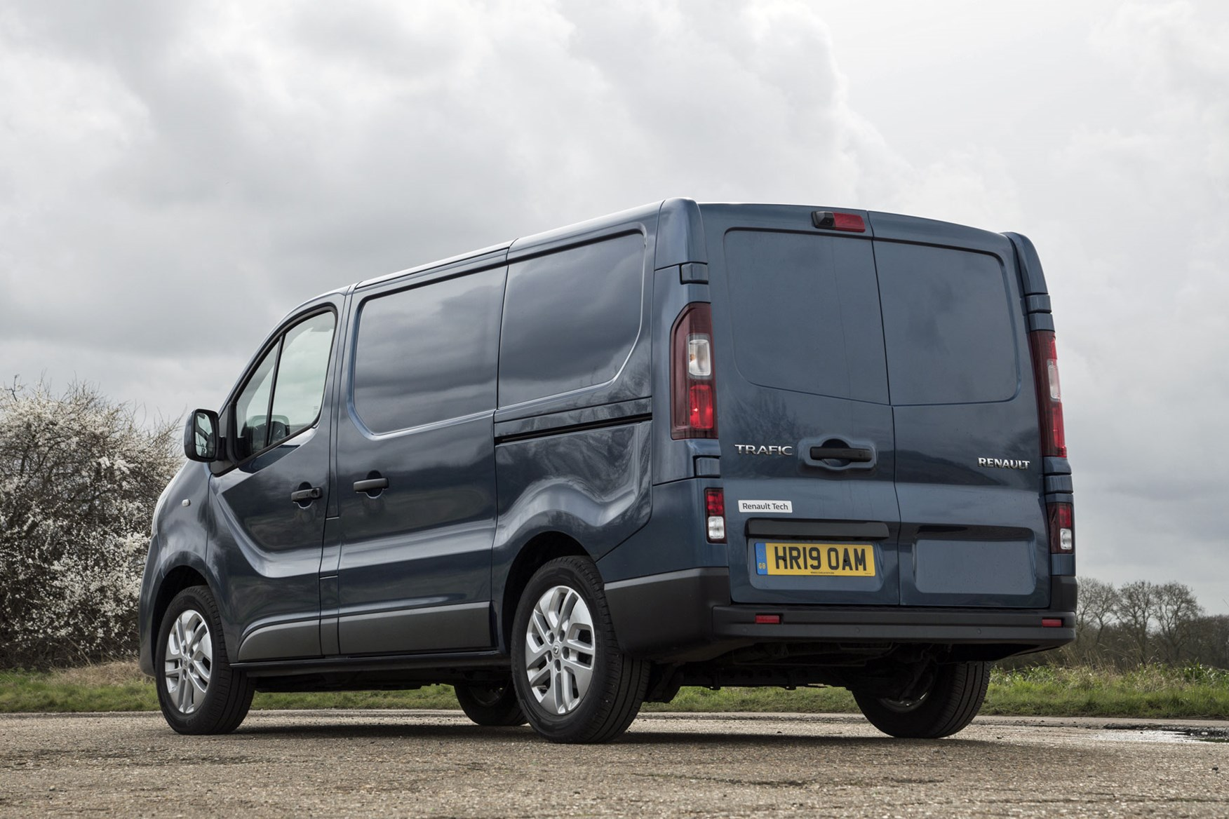 Renault Trafic review - facelift, rear view, 2020, blue