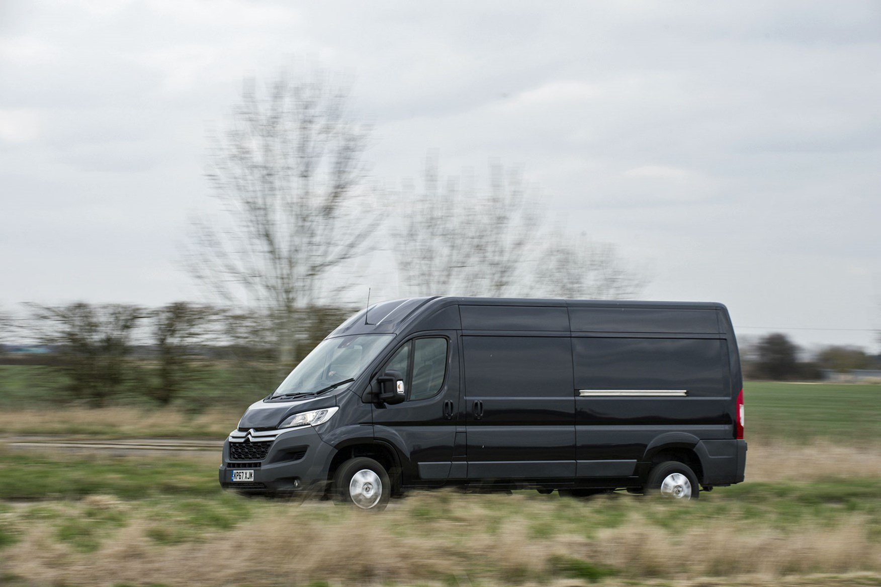 Citroen Relay review - side view, black, driving