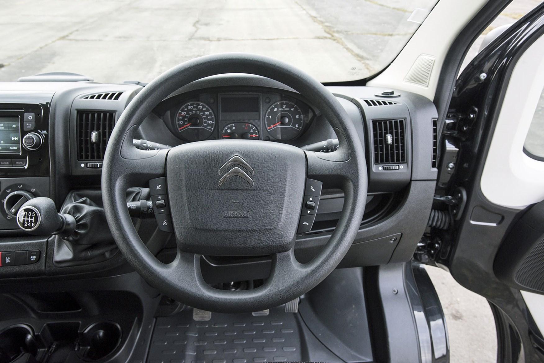 Citroen Relay review - cab interior, steering wheel