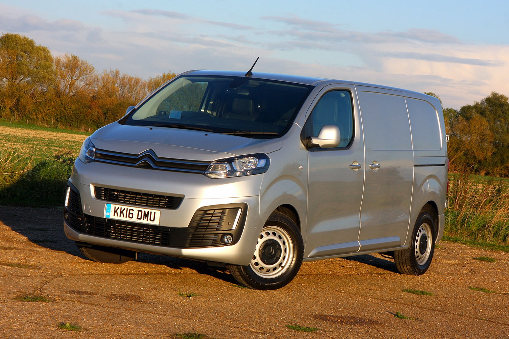 Citroen Dispatch review - silver, front view