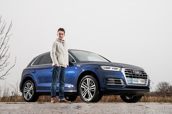James Dennison with his Audi Q5 long-termer