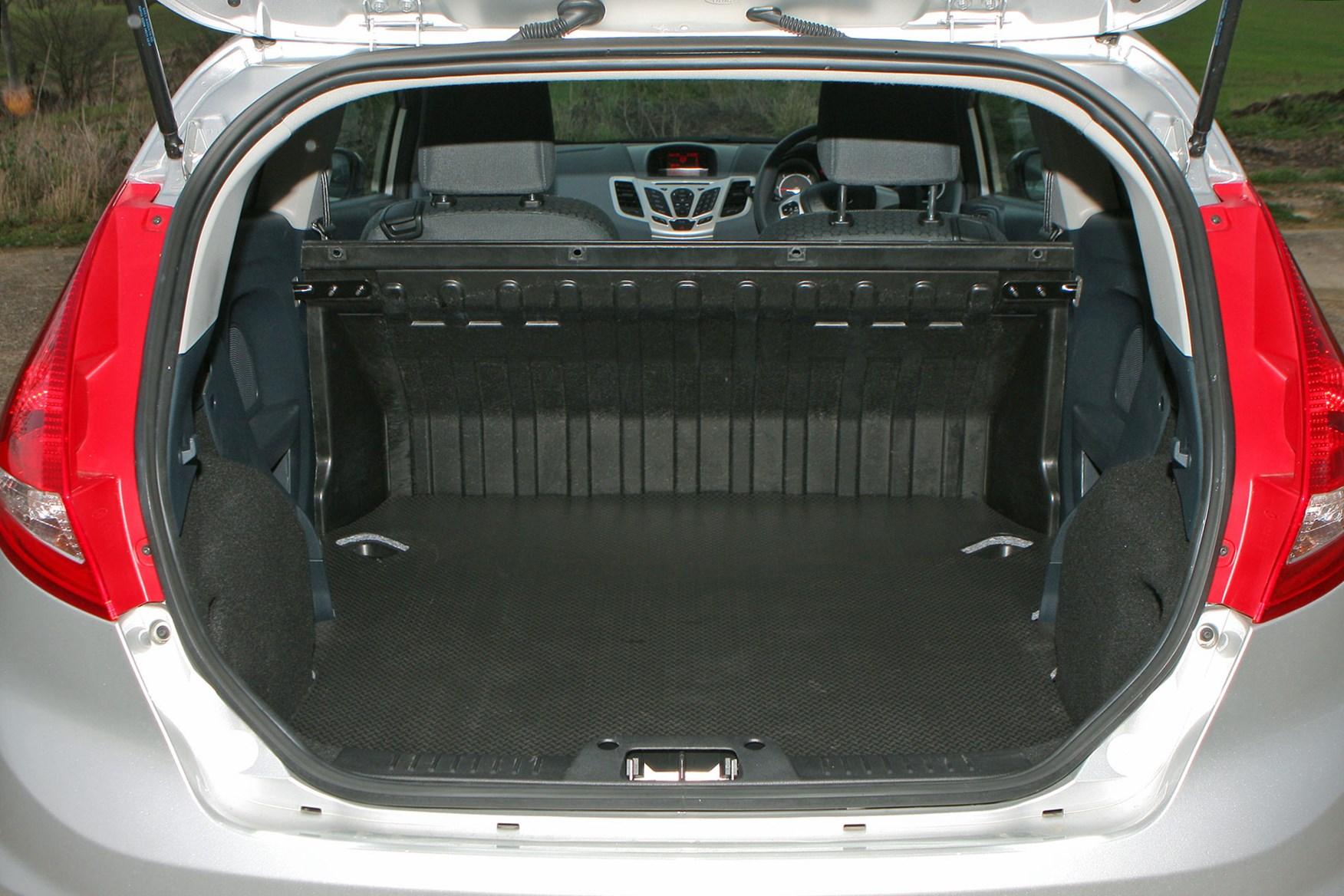 Ford Fiesta Van (2009-2017) load area dimensions