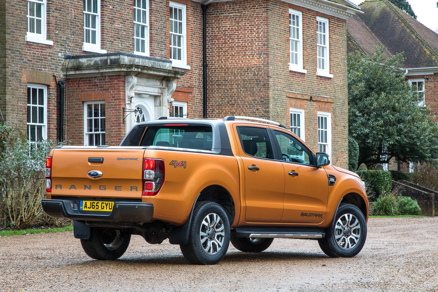 Ford Ranger review - 2016 facelift, rear view, orange, Wildtrak
