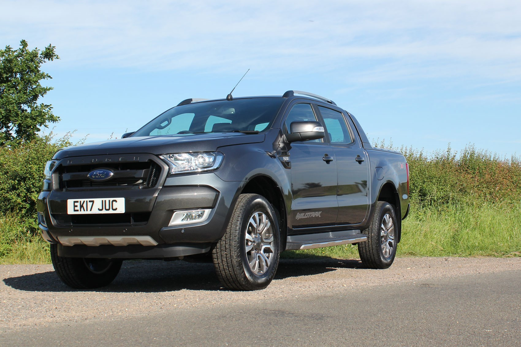 Ford Ranger Wildtrak Euro 6 review - dark grey, front view