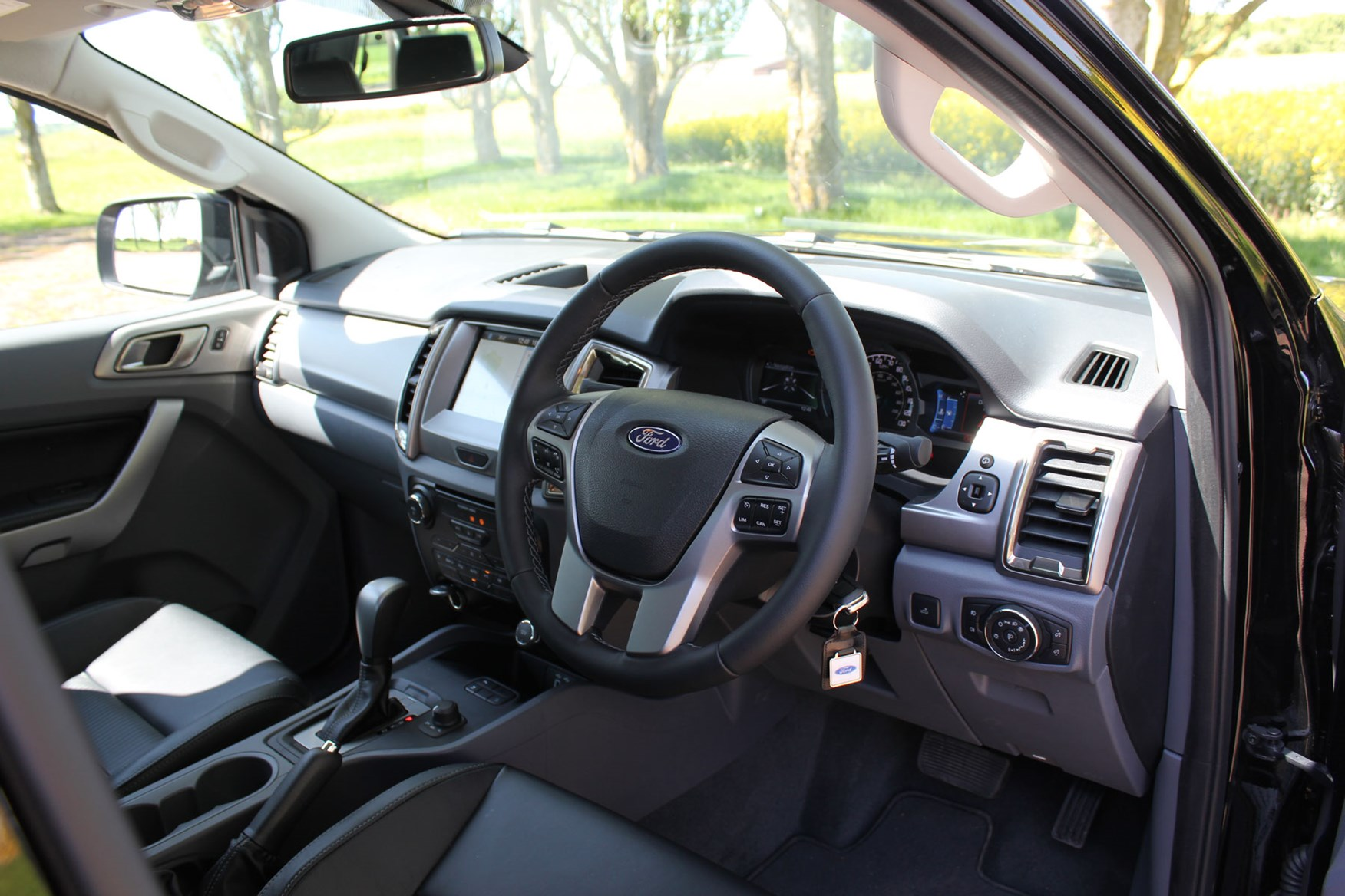 Ford Ranger Black Edition review - cab interior