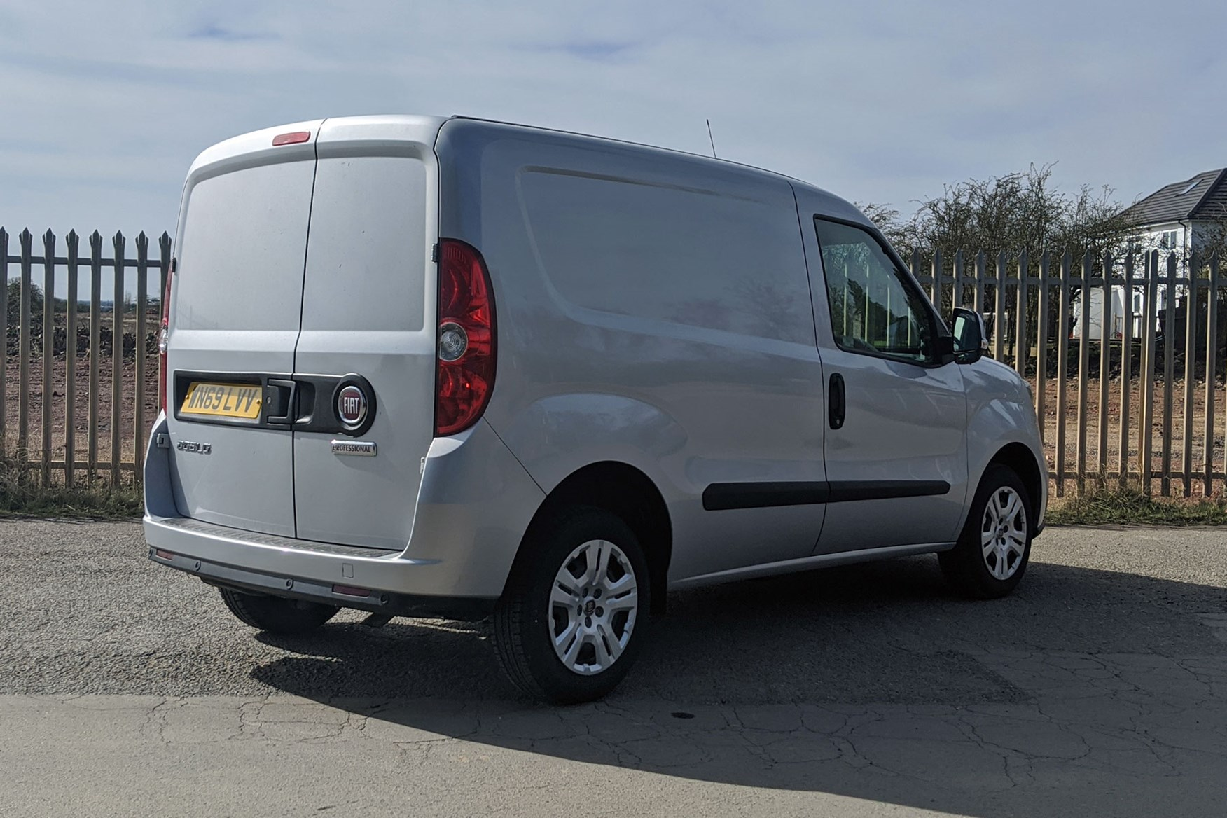 Fiat Doblo review - rear view, silver, 2020