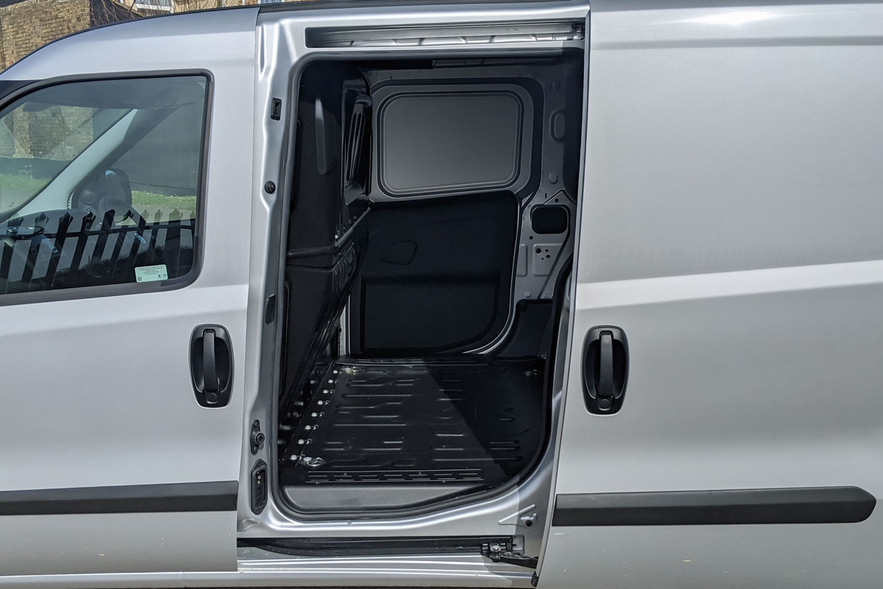 Fiat Doblo review - side loading door, silver, 2020