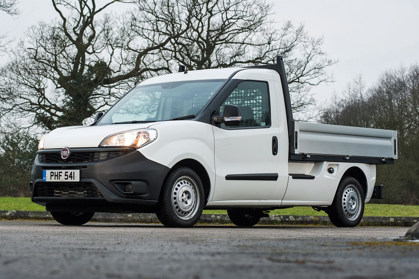 Fiat Doblo review - Work Up dropside pickup, front view, facelift model