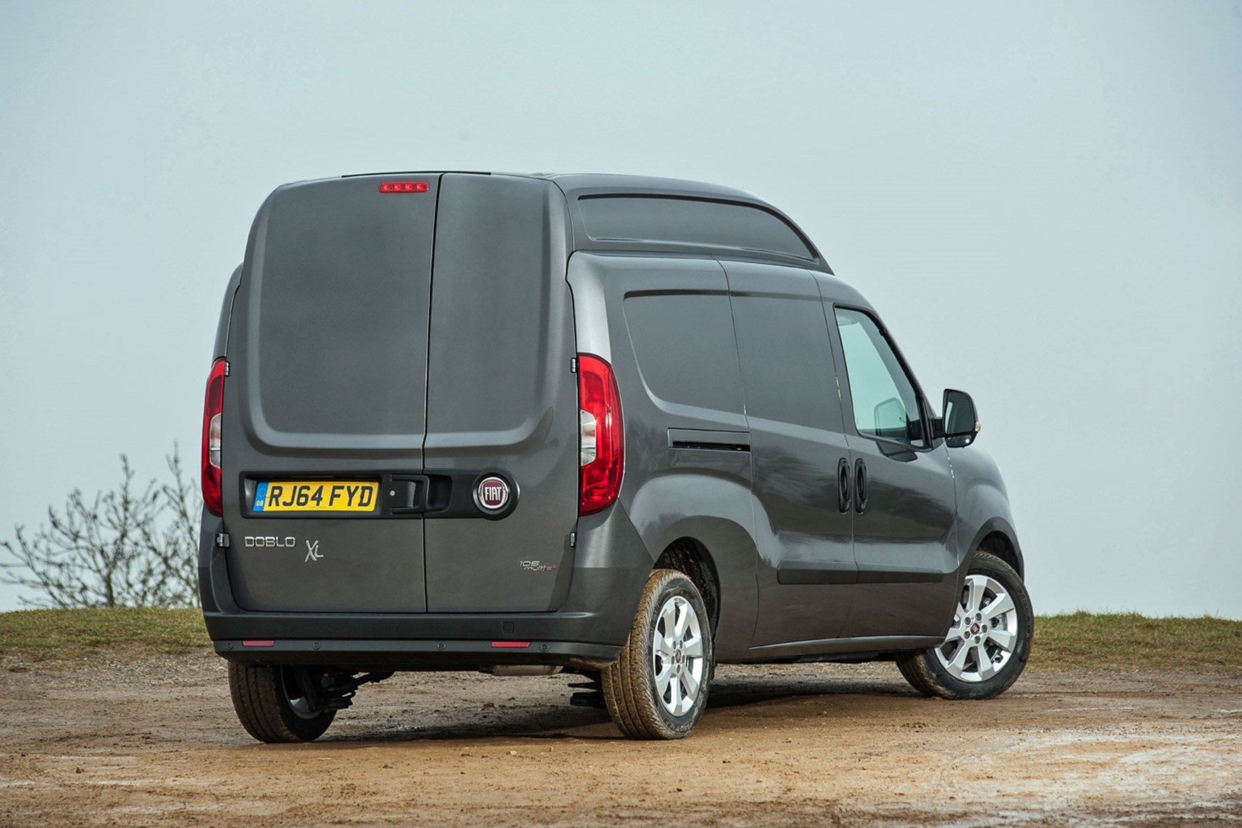 Fiat Doblo Maxi XL review - rear view, grey, 2014