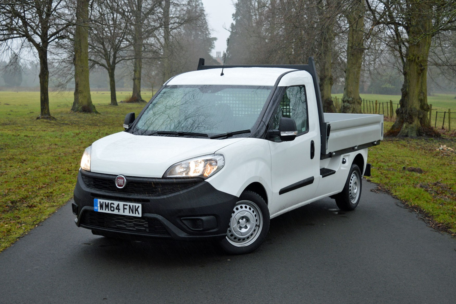 Fiat Doblo review - Work Up dropside pickup, front view, white, 2015