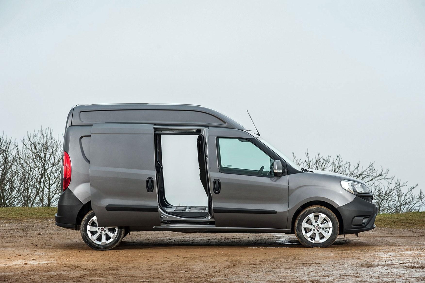 Fiat Doblo Cargo XL - side view, doors open
