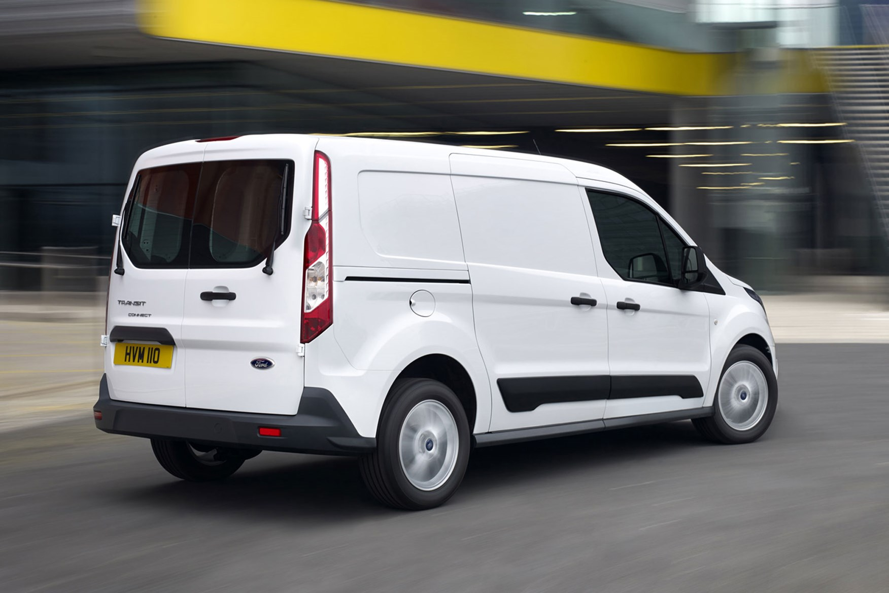 Ford Transit Connect review - 2013 L2 LWB, rear view, white, driving